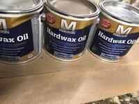 Hardwax oil floor parquet £30 each or £75 3no