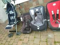 4 car seats and a buggy job lot Britain, maxi cosi