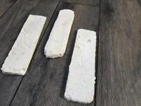 White Brick Slips tiles