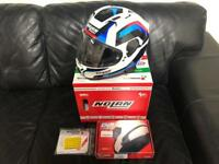 XL Nolan N87 helmet with N-Com B.14 Bluetooth kit *AS NEW*