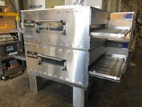 MIDDLEBY MARSHALL-PS360GWB -38 INCH GAS DOUBLE CONVEYOR PIZZA OVENS ( 2016 MODELS ) MINT CONDITION