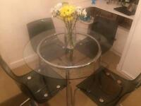 IKEA dining set- glass table + 4 chairs