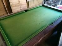 7 foot slate bed pool table.