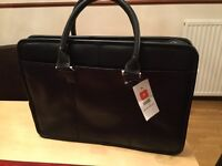 Black Wilsons leather briefcase (new and unused)