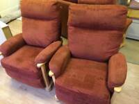 Three seater and two armchairs