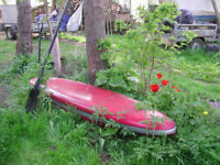 Fiberglass canoe for young person -