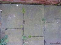 Pennant stone pavers (7 square meters) + sandstone slabs