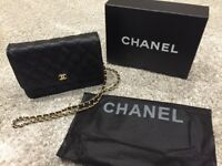 Black Chanel quilted style shoulder bag