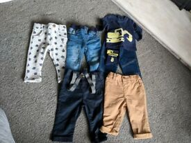 Baby boys clothes bundle age 3-6 months, 40 items