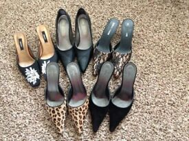 5 pairs of ladies shoes, size 6 £20