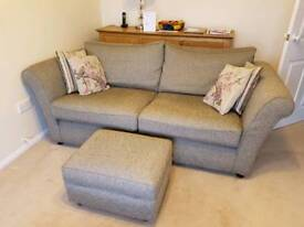 3 seater Setee and footstall