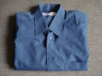 New mens polycotton blue shirt, size 16 collar, Berkertex, in excellent condition