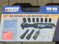 POWER CRAFT Air Ratchet Kit includes impact sockets