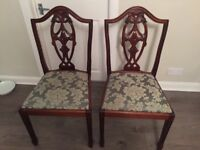 2 chairs in good condition