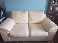 Sofa 2+3 cream leather