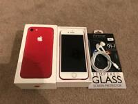 """Iphone7,RED,128gb,Unlocked✅LIMITED EDITION✅Brand New With Box & 1 Year Apple Warranty✅ Reduced £459"""""""