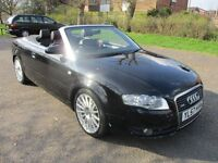 2007 57 AUDI A4 2.0 S-LINE 140 CONVERTIBLE FMDSH CAMBELTED 1 FORMER LADY OWNER LEATHER PX SWAPS