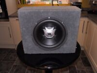 TOP QUALITY JBL SUB WOOFER SPEAKER IN BLACK CARPETED BASS BOX