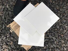 "34 x 6"" square white tiles"