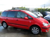 ford galaxy 1.9 tdi red 2005 full years mot