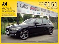 BMW 1 SERIES 2.0 118D SE 5d 141 BHP Apply for finance Online to (black) 2013
