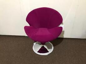 Brand new pink velvet swivel chair bargain