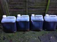 used vegetable oil 80 litres,, for burners or bio diesel......