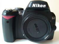 NIKON D40 CAMERA WITH MICRO NIKKOR 60mm f/28D LENS