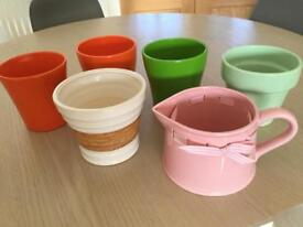 Set of 6 ceramic indoor plant pots