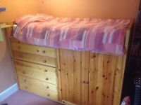 ***QUICK SALE - IKEA Single Bunk Bed with Wardrobe + Drawers***