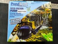 PondKraft 10000 Eco Filter Pump Pond Koi Fish Brand New Cheap to Run