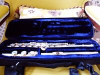 SUPERB Trevor J. James London TJ 10x Silver Flute in Carry Case Very Good Condition Instrument