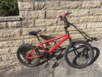 KIDS BMX BICYCLE with Gyro Handlebars - Red - Good condition.