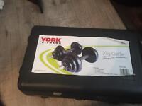 York 20kg dumbbells