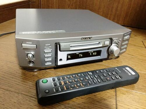 SONY MDS-S50 MD deck MDLP compatible with Remote Controller Tested Working