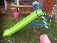 Large outdoor garden slide