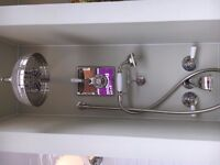 Lefroy Brooks Shower mixer, head, handset and bath filler, polished nickel, Ex-Display -50% off!