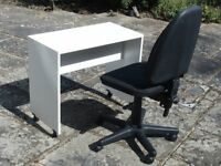 Swivel office chair and small work table