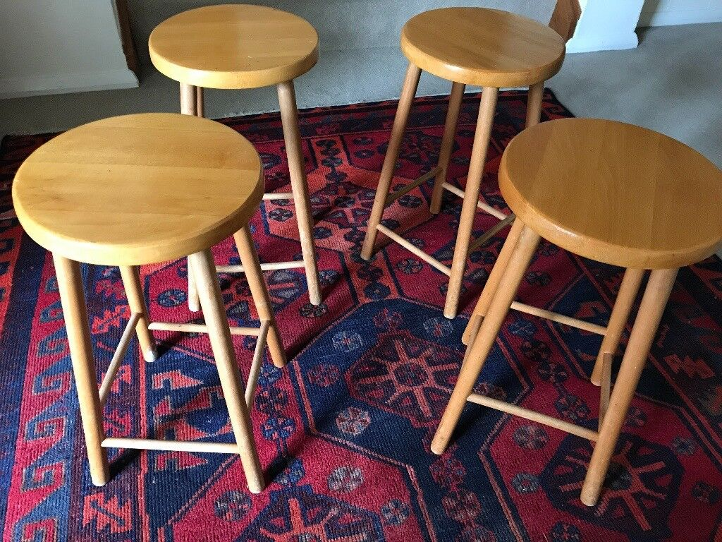 Miraculous 4 Small Wooden Stools For Dining Or General Utility In High Wycombe Buckinghamshire Gumtree Theyellowbook Wood Chair Design Ideas Theyellowbookinfo