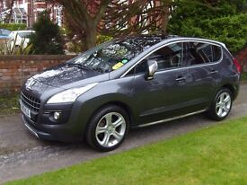 Peugeot 3008 Allure HDI Crossover Automatic in shark grey, low mileage, MOT expiry March 2018