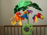 Fisher Price rainforest peek a boo leaves cot mobile