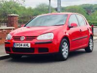 VW GOLF 1.6 FSI 2004 LOW MILEAGE FSH CLEAN&TIDY 1YRS MOT 3 MONTHS WARRANTY