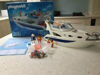 Playmobil Blue Marlin family yacht
