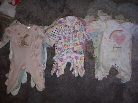Baby girl clothes 0-3 months mixed bag