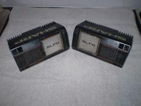 VINTAGE SHARP CAR SPEAKERS - BASS REFLEX 3 WAY SYSTEM / Mk 1 ESCORT RS COSWORTH CUSTOM CAR etc