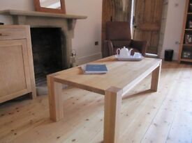 Solid European Oak Coffee Table Excellent Condition