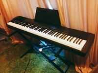Casio CDP 130 Digital Piano - full weighted keys, sustain pedal & piano stand