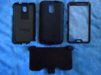 OTTERBOX DEFENDER case for SAMSUNG NOTE 3 (N9005). Heavy duty. Robust. Screen protector & belt clip