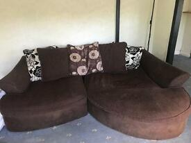 4 seater chaise end sofa
