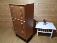 Gplan tall boy chest of drawers refurbished can deliver